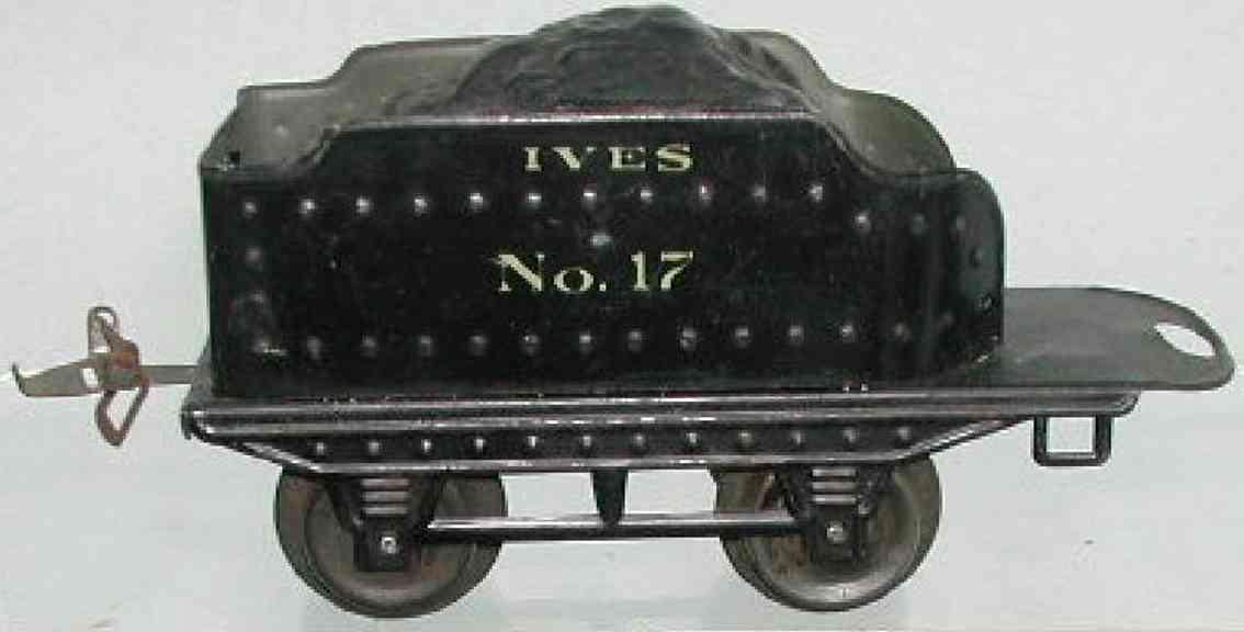 ives 17 1917 spielzeug eisenbahn tender silberne aufschrift spur 0