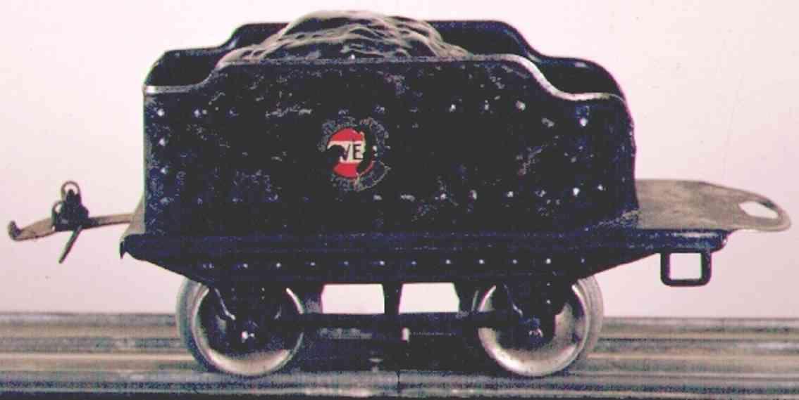ives 17 1930 spielzeug eisenbahn tender schwarz spur 0