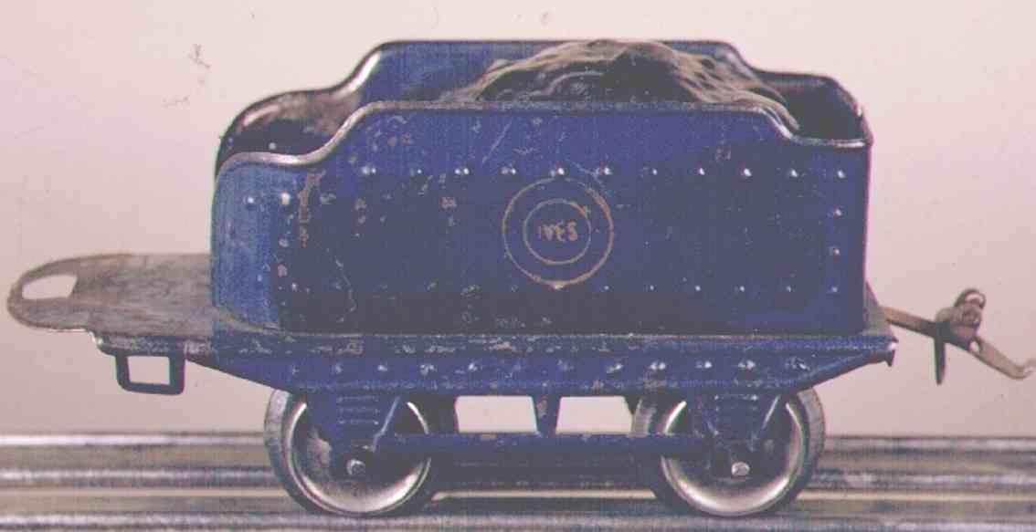 ives 17 1930 spielzeug eisenbahn tender blau spur 0