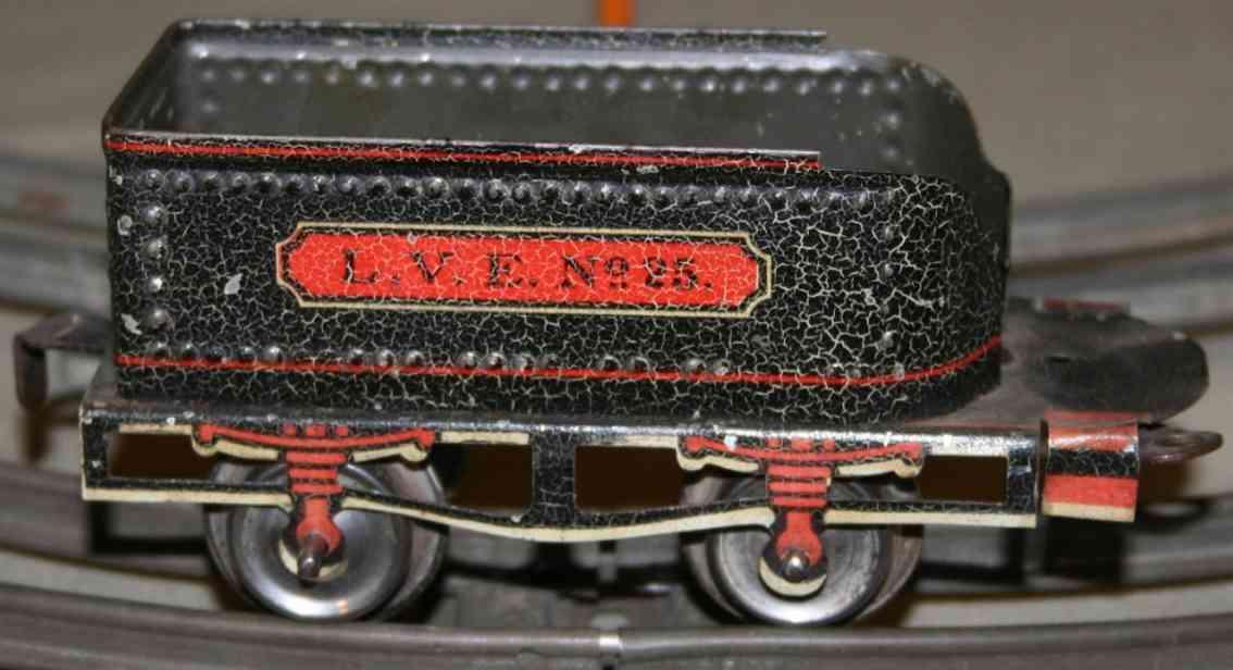 ives 25 1906 spielzeug eisenbahn tender schwarz weiss rot spur 0