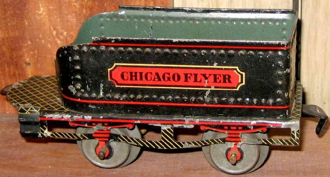 ives 25 1907 pielzeug eisenbahn tender chicago flyer hakenkupplung spur 0