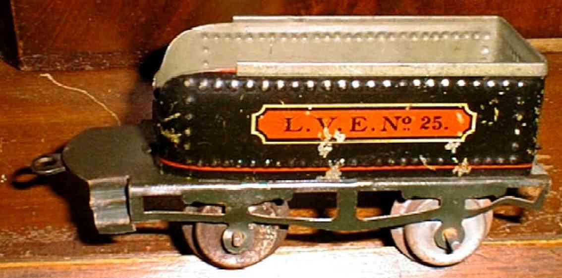 ives 25 1909  spielzeug eisenbahn tender schwarz gruen spur 0