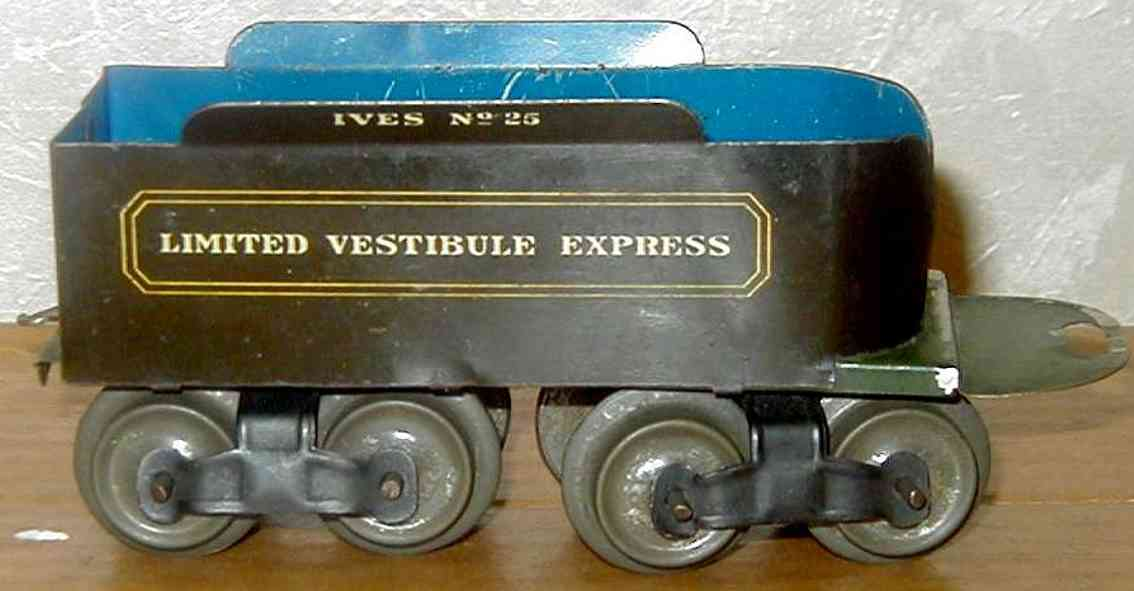 ives 25 1910 spielzeug eisenbahn tender vestibule express spur 0