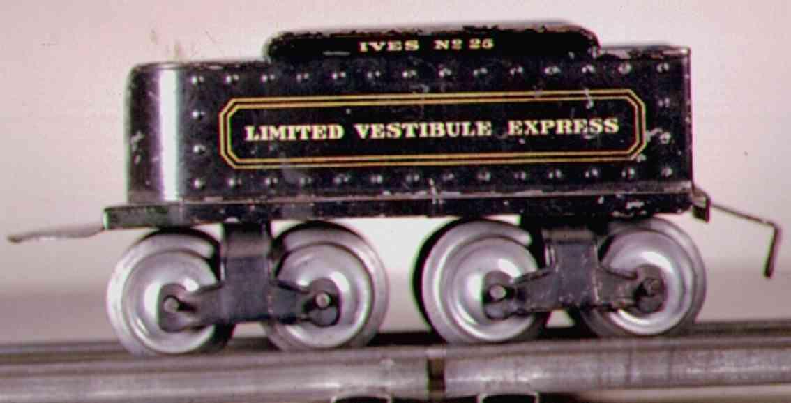 ives 25 1911 spielzeug eisenbahn tender schwarz limited vestibule express spur 0