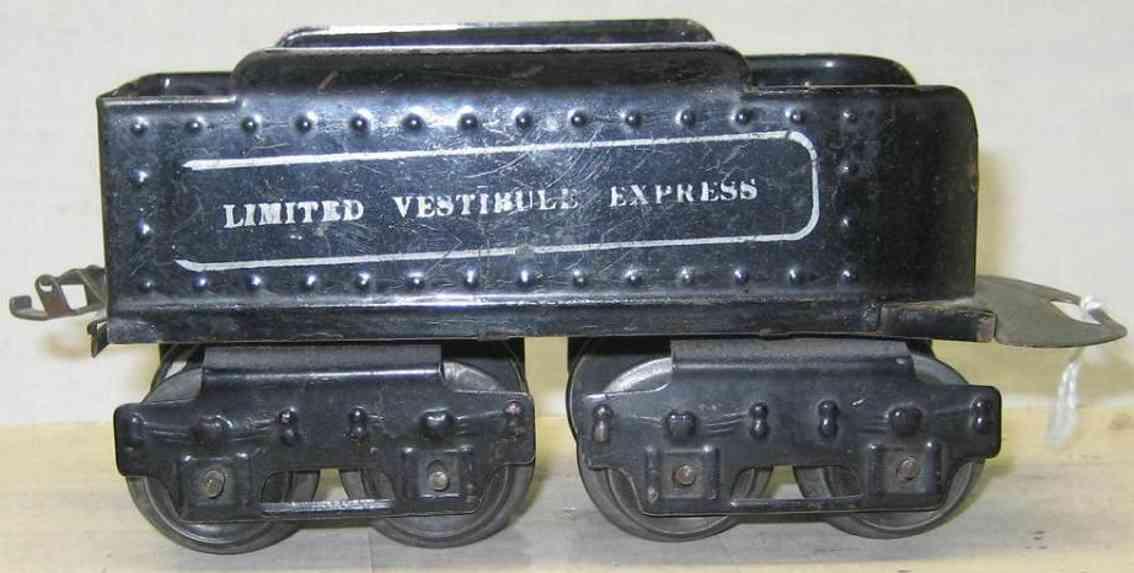 ives 25 1913 spielzeug eisenbahn tender schwarz limited vestibule express spur 0