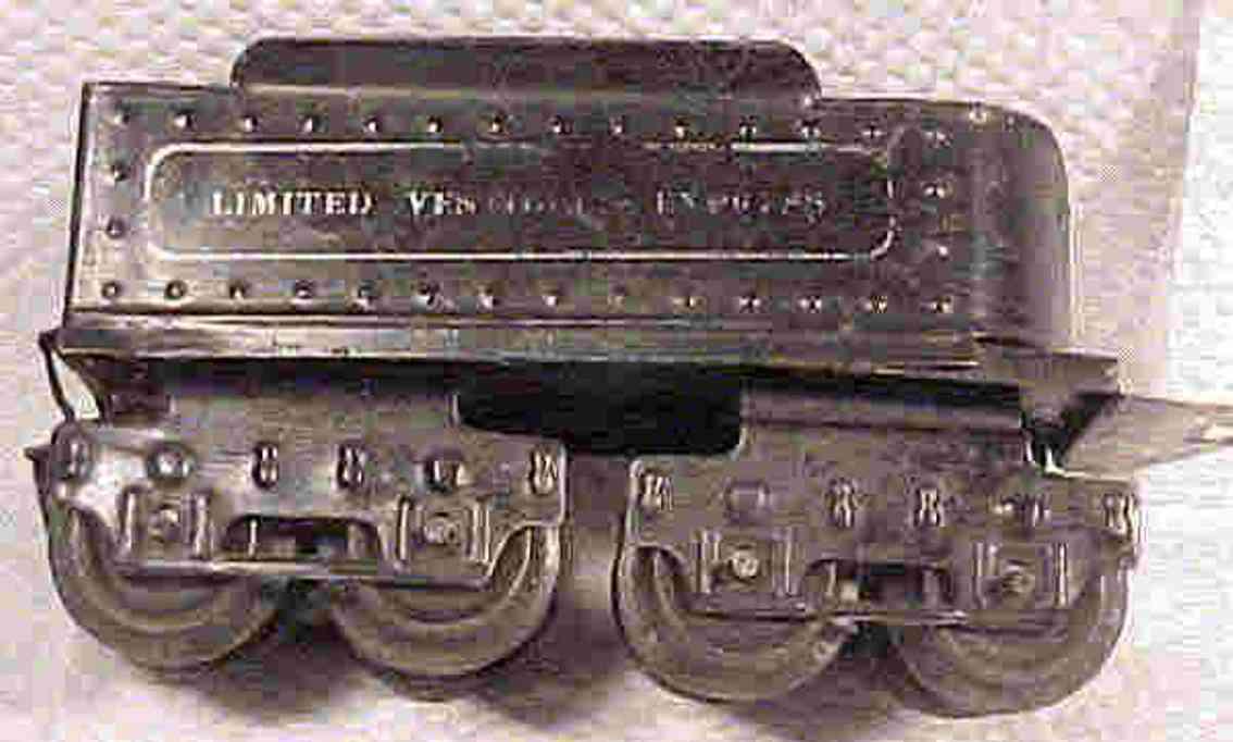 ives 25 1916 spielzeug eisenbahn tender schwarz limited vestibule express spur 0