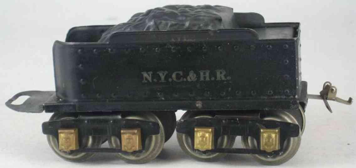 ives 25 1928 spielzeug eisenbahn tender schwarz weiss nyc & hr spur 0
