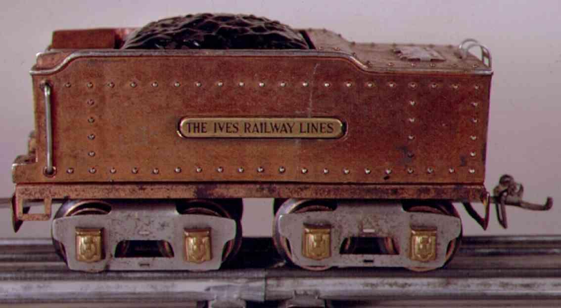 ives 25 1929 spielzeug eisenbahn tender kupfer messingschilder spur 0