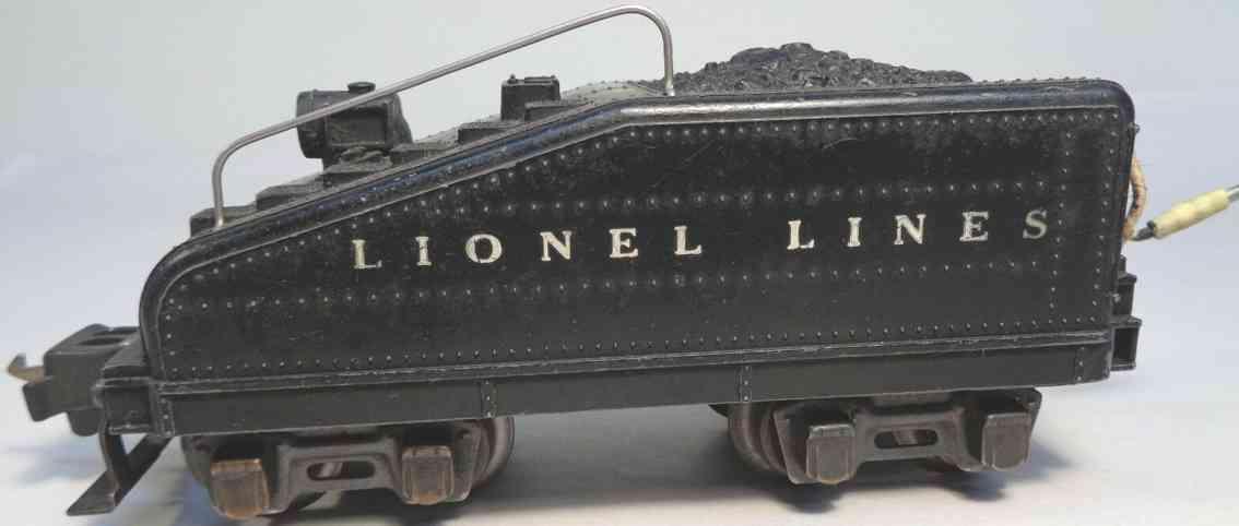 lionel 2203t railway toy slope tender black gauge 0