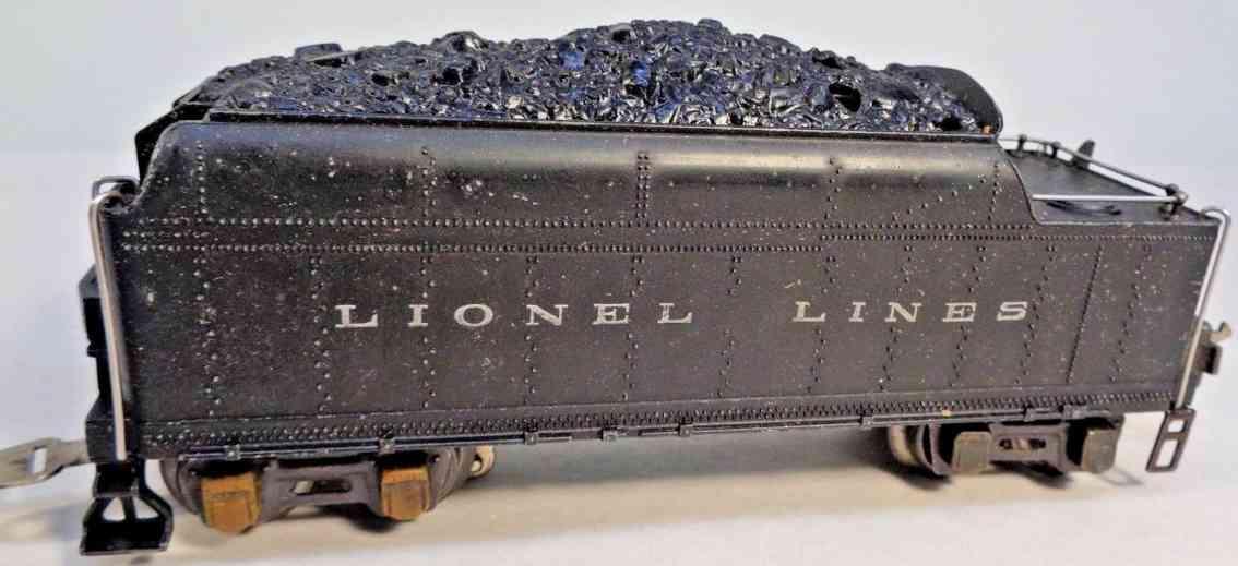 lionel 2224t spielzeug eisenbahn kohletender mit pfeife schwarz spur 0