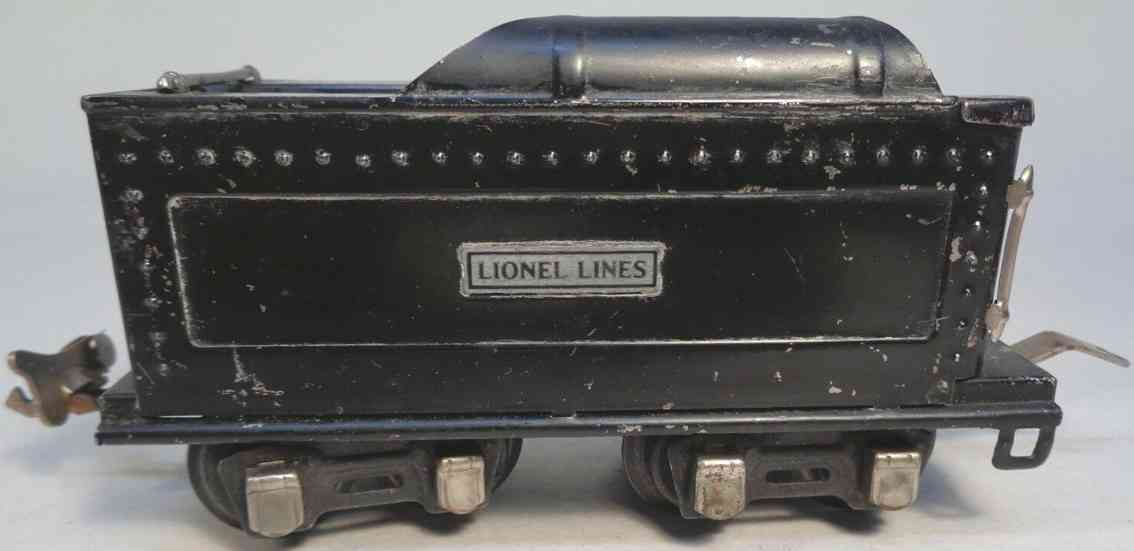 lionel 261t railway toy tender nickel trim gauge 0