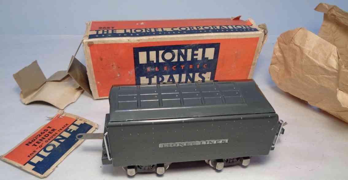 lionel 2265t spielzeug eisenbahn tender aus metall