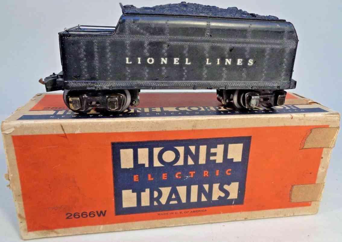 lionel 2226w spielzeug eisenbahn tender schwarz spur 0