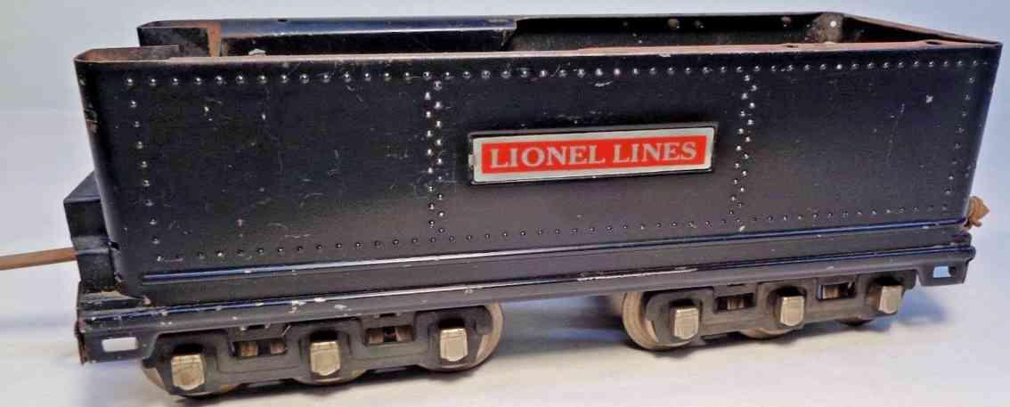 lionel 392w spielzeug eisenbahn tender schwarz standard gauge