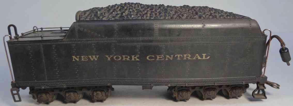 lionel 700t spielzeug eisenbahn tender schwarz druckguss bakelite new york central  spur 0