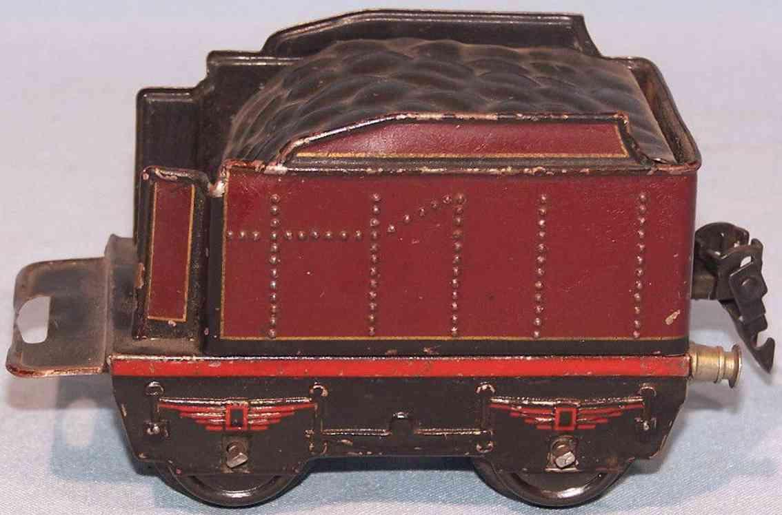 marklin 899/0 railway toy tender tender  red gauge 0
