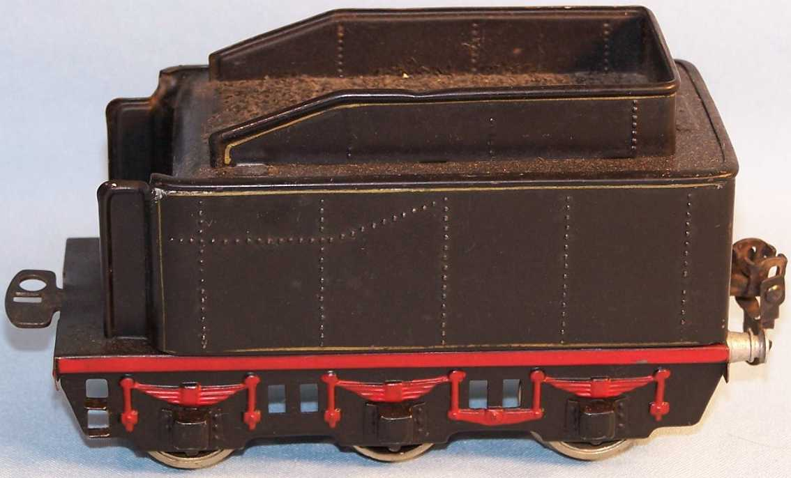 marklin maerklin E 929/0 railway toy tender tender; 3-axis, in black, red and gold