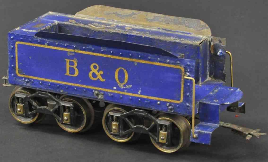 voltamp 2102 spielzeug eisenbahn tender blau