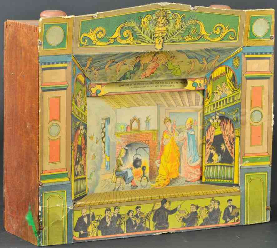 mcloughlin brothers wooden toy theatre cinderella story panarama
