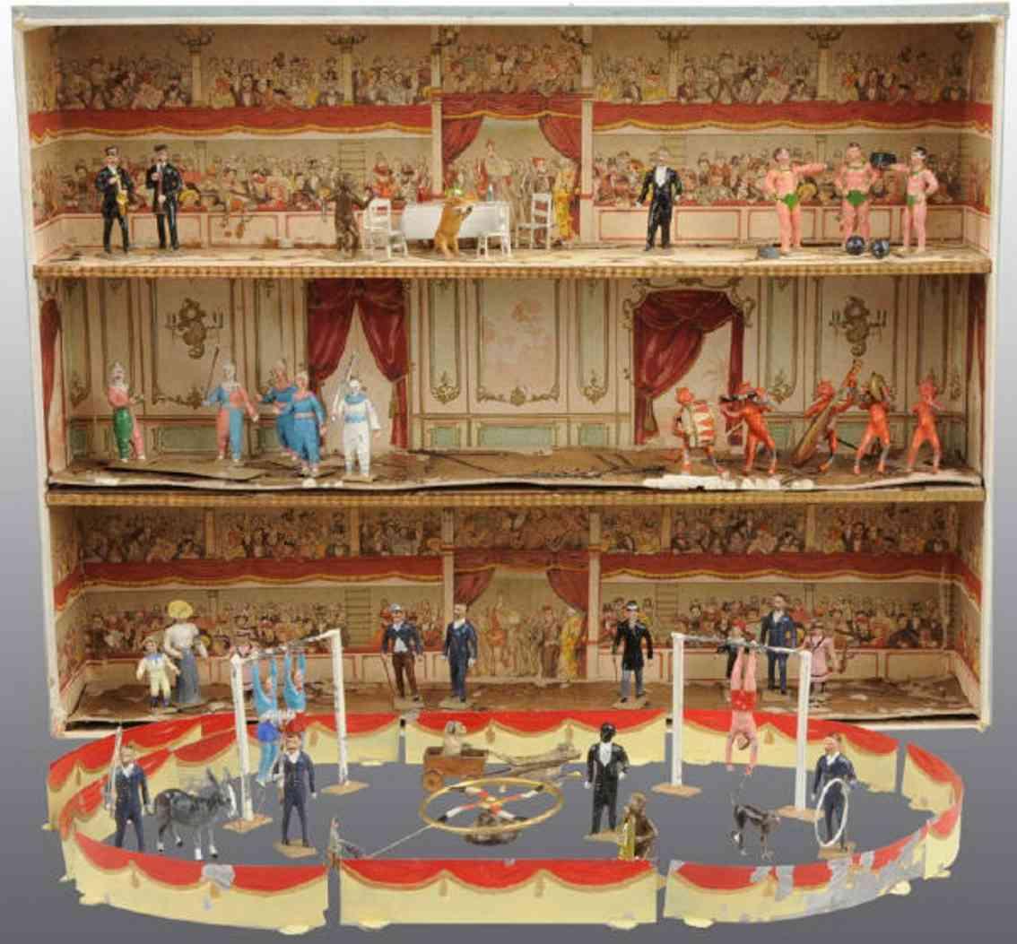 821/3 Theater Circus Paraphernalia und Figuren