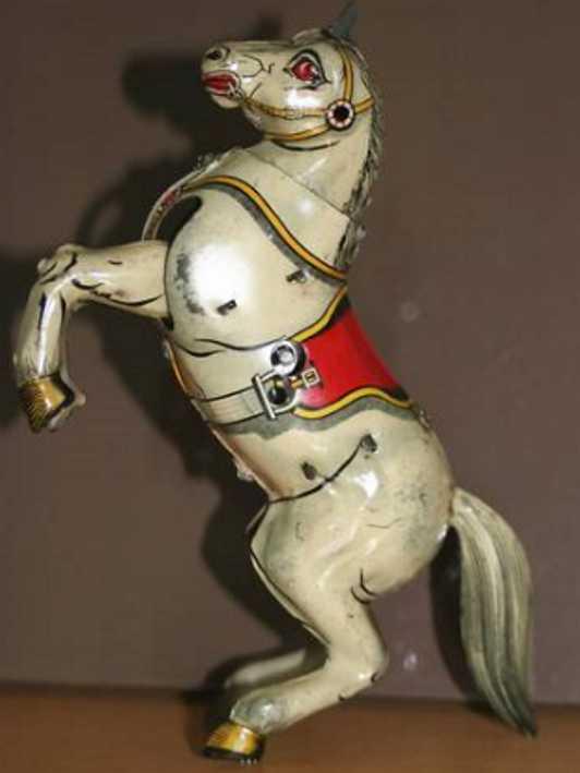arnold blech spielzeug dompteur mit pferd uhrwerk
