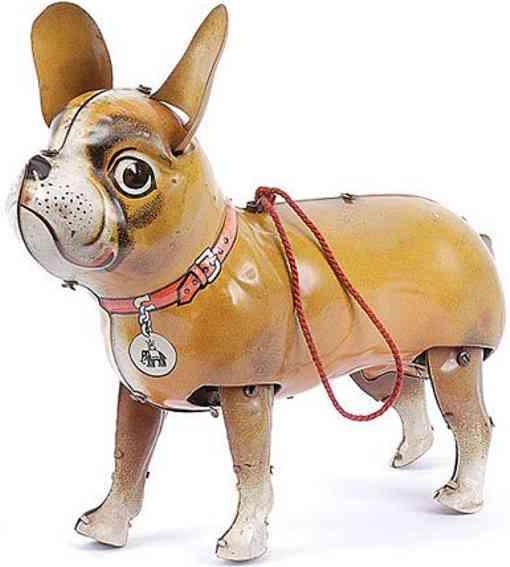 blomer & schueler 190 blech spielzeug boston terrier bully uhrwerk