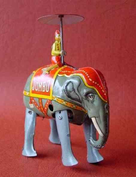 blomer & schueler blech spielzeug zirkus elefant uhrwerk