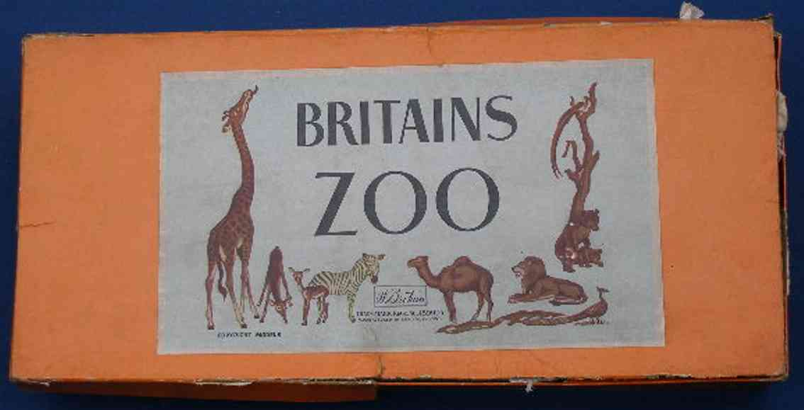 britains ltd toy 24Z tin toy zoo gift set of lead includes fences, elephant ride, camel r