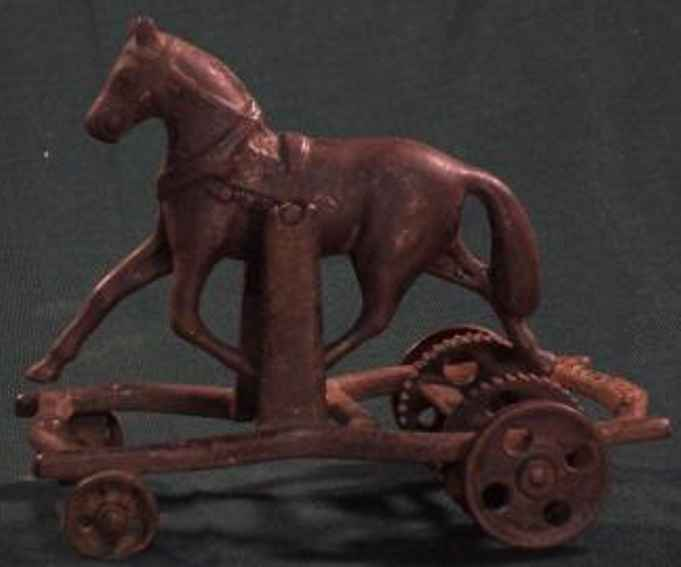 carpenter cast iron toy galloping horse