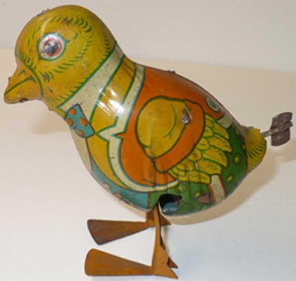 chein co 81 tin toy walking bird wind-up
