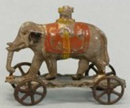 fallows tin toy elephant with castle howdah