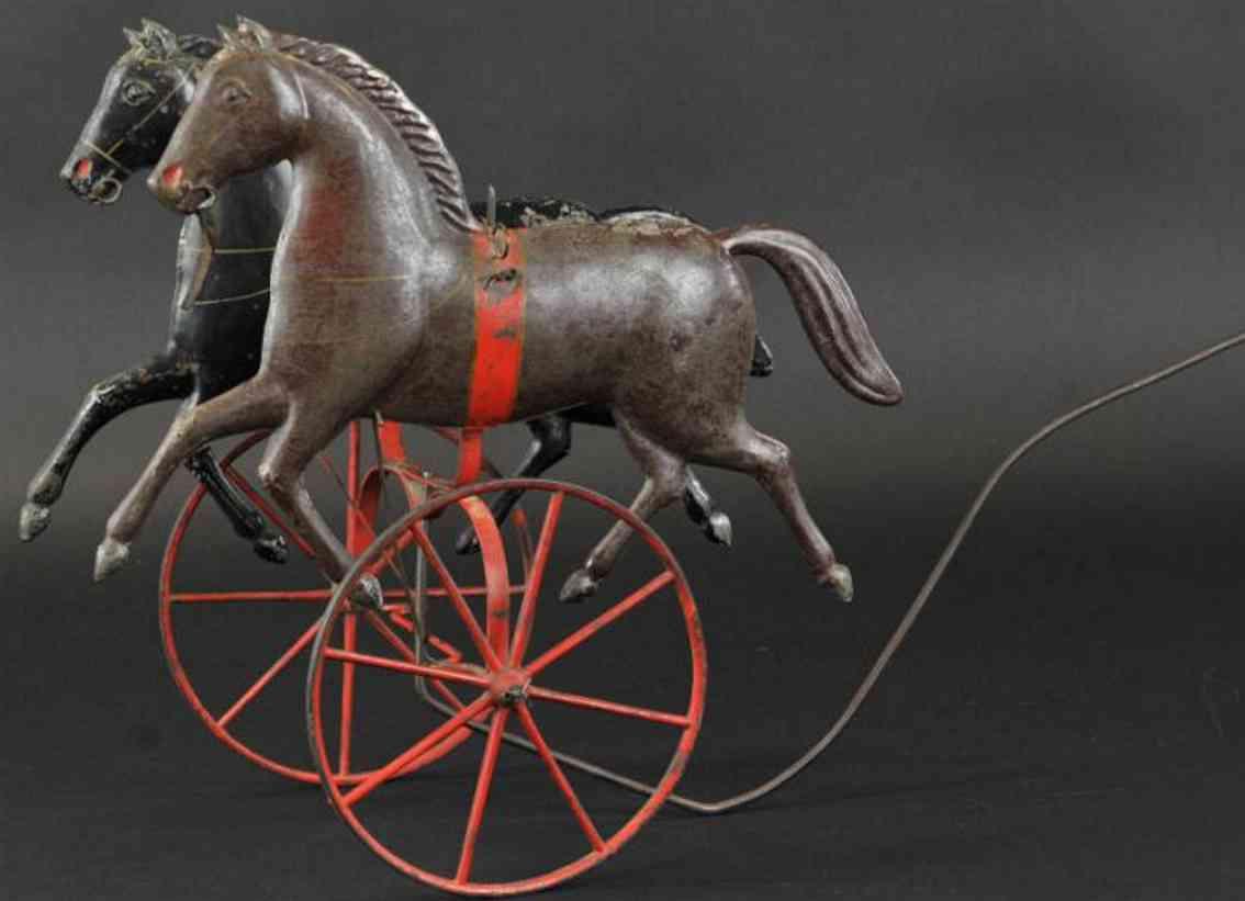 fallows blech whittaker patent-pferd gelenken ziehspielzeug