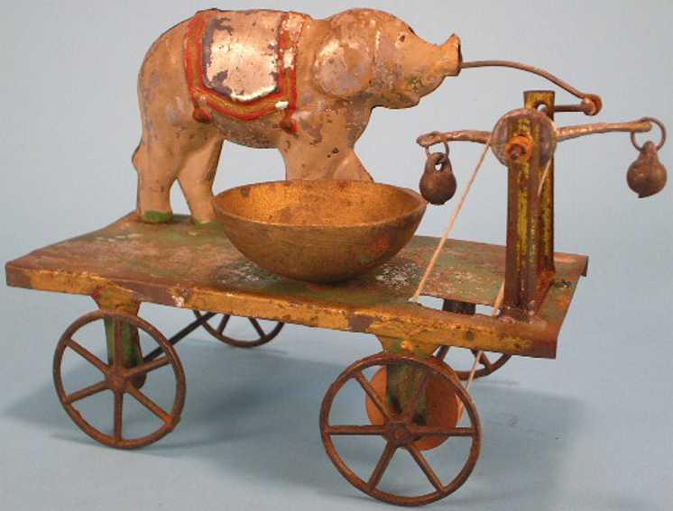 fellows james blech spielzeug elefant mit glocke uaf plattform mit speichenräder