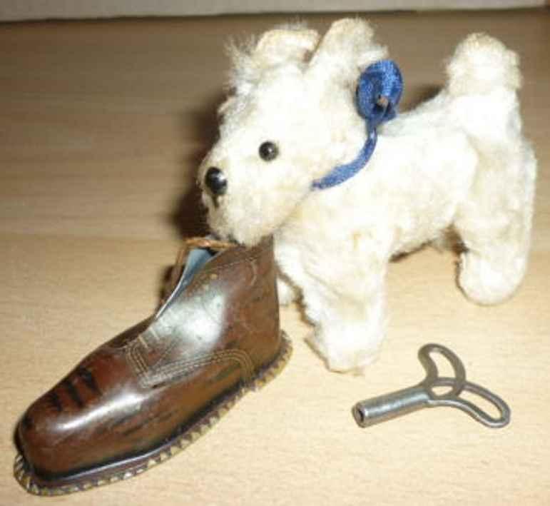 gescha 58/t blech tier hund teddy uhrwerk