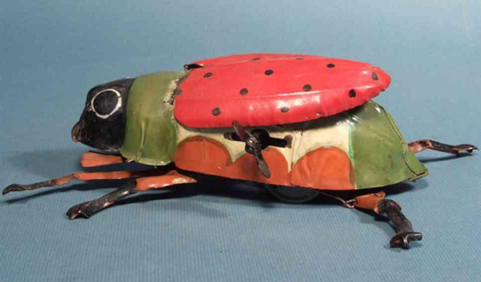 guenthermann blech spielzeug marienkaefer mit uhrwerk