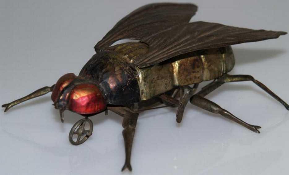 issmayer tin toy fly clockwork