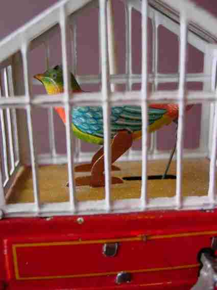 issmayer blech spielzeug vogelkaefig uhrwerk blasebalg
