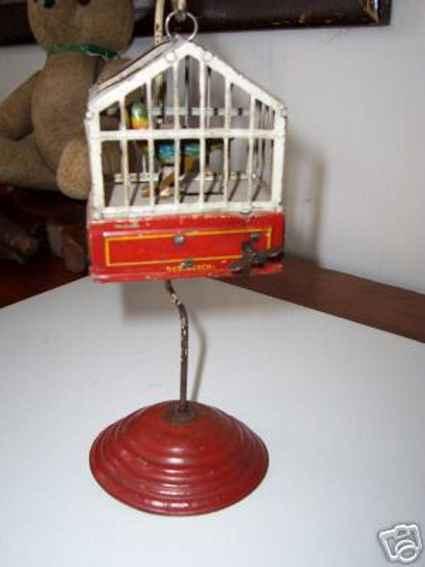 issmayer blech spielzeug vogelkaefig mit uhrwerk