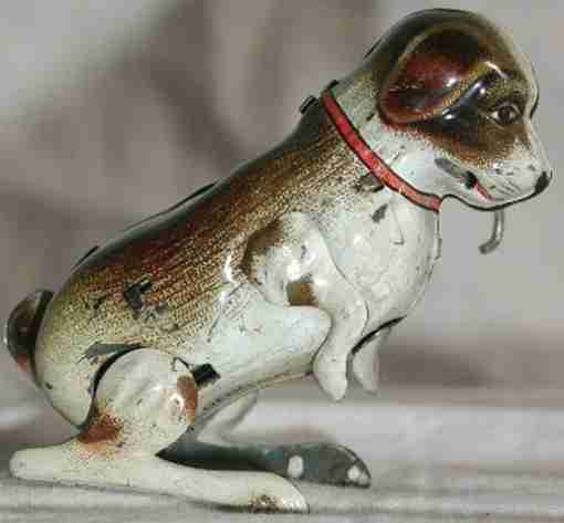 koehler blech apportierender hund mit stock