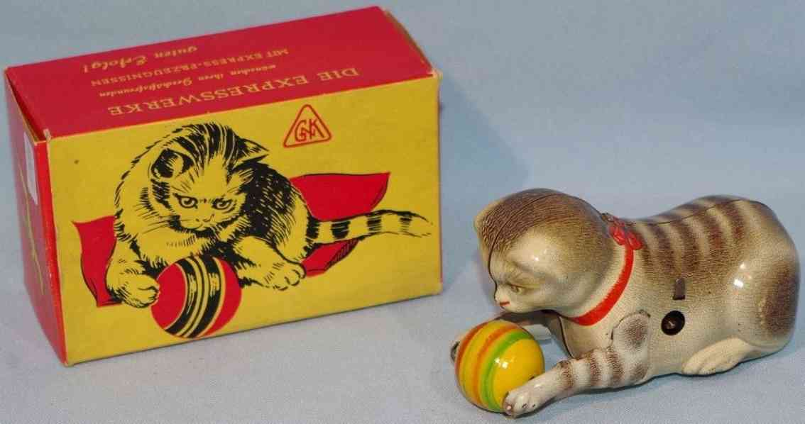 koehler blech spielzeug katze mit ball uhrwerk expresswerke