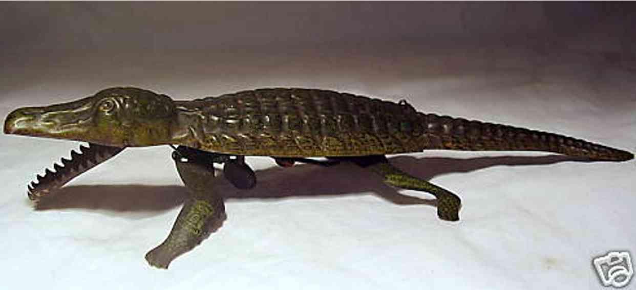 lehmann 442 blech laufendes krokodil mit uhrwerk