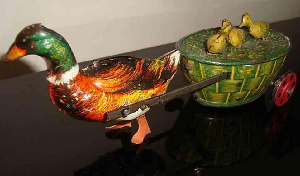 lehmann 645 tin animal paak - paak mother duck 3 children