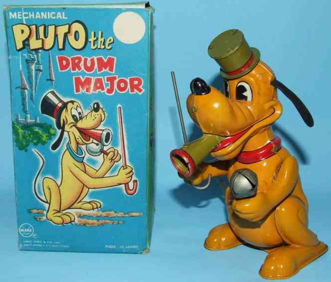 Marx Louis J-9638 Pluto als Tambourmajor mit Uhrwerk