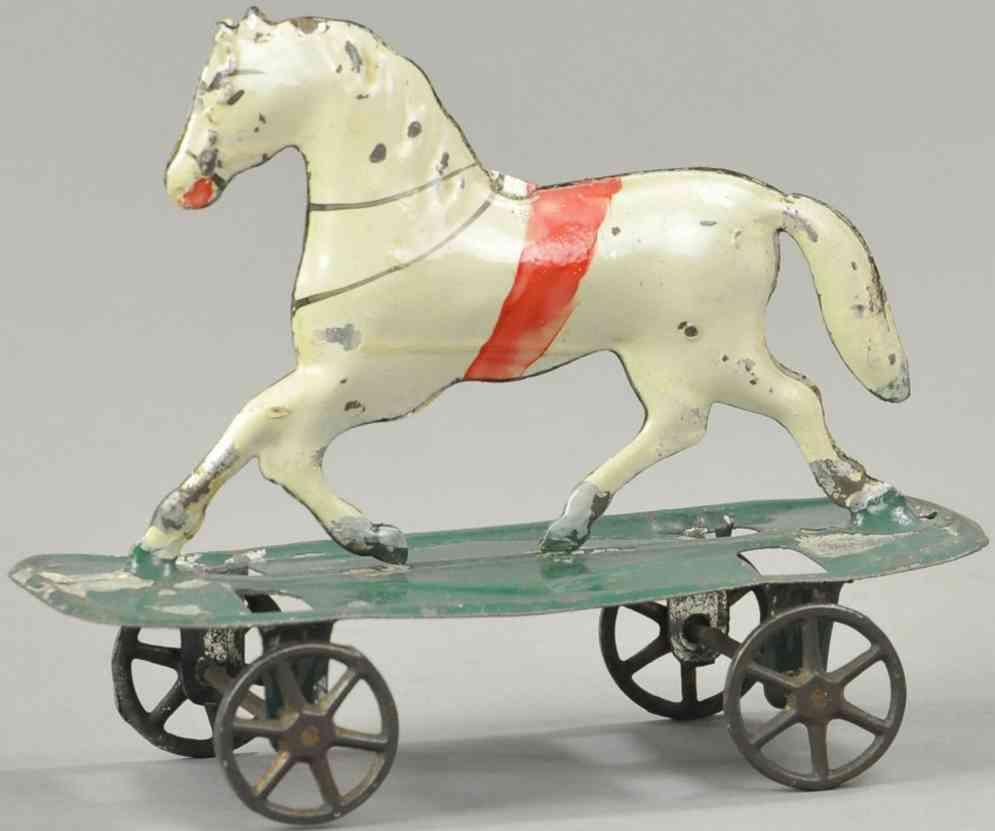 merriam blech spielzeug pferd auf plattform