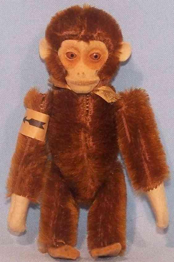 schuco 872 tin toy tumble monkey plush felt clockwork