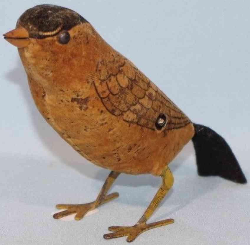 schuco blech spielzeug vogel mit uhrwerk
