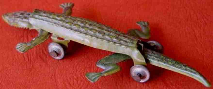technofix 110 blech tier krokodil auf raeder
