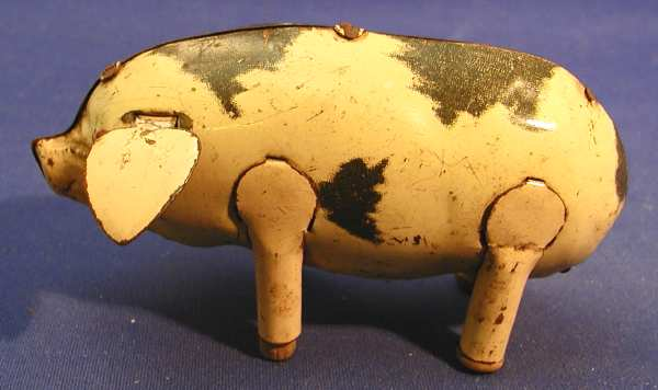 wimmer heinrich hwn blech spielzeug huepfendes schwein mit uhrwerk