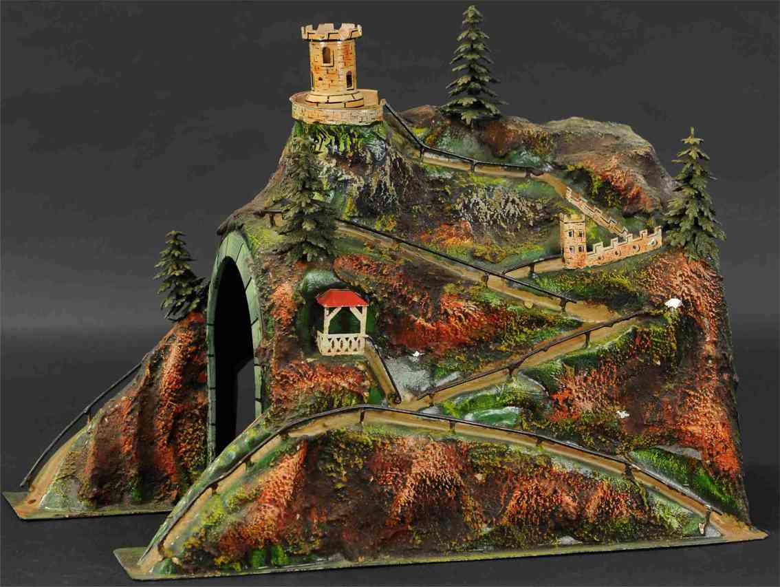 marklin maerklin 2526/1 railway toy tin tunnel large axenstrasse
