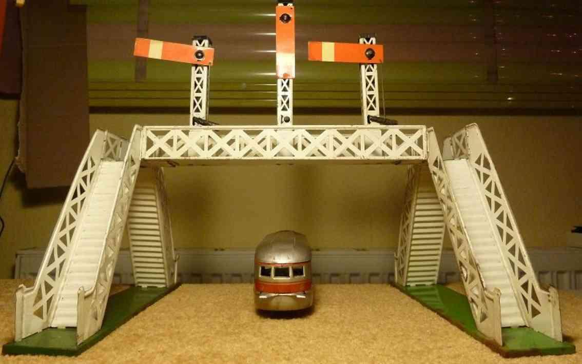 bub railway toy gangway 3 rail signal bridge